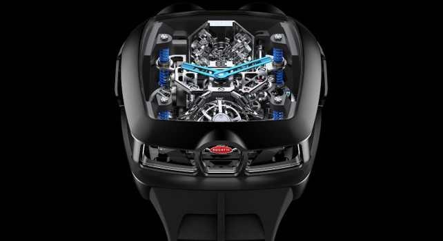 Jacob & Co. x Bugatti Chiron Tourbillon : La montre équipée d'un moteur W16 miniature