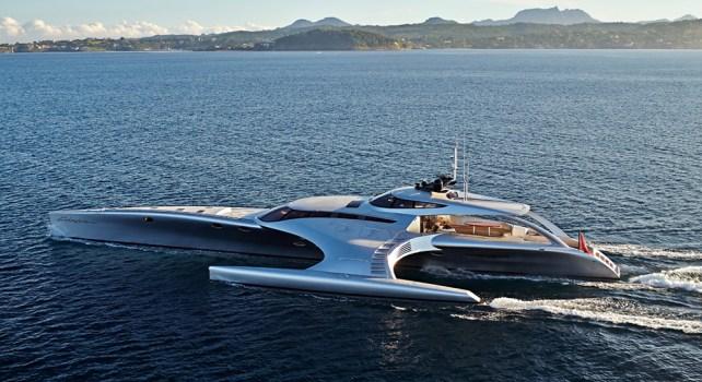 John Shuttleworth Yacht Adastra : Un trimaran futuriste