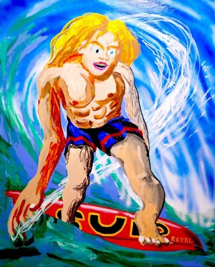 Royal Jarmon SUP, 2020 Acrylic on canvas 142 x 102 cm