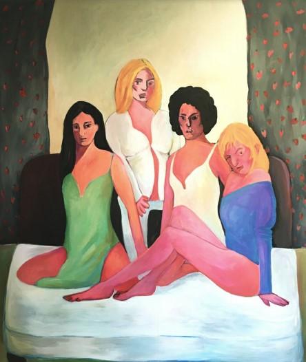 Vassilis H. Charlie's Angels, 2020 Acrylic on canvas 240 x 200 cm