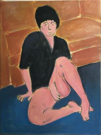 Vassilis H. Woman with black shirt, 2020 Acrylic on canvas 80 x 60 cm