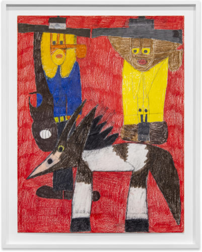 Anthony Coleman Billy Ray Cyrus & Lil Nas X 2019 Color pencil on paper 66 x 48,2 cm Framed: 76,2 x 59,7 cm