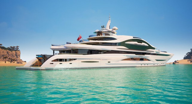 Gresham Yacht Desing «Emir» : Un gigayacht de 120 mètres de long et au luxe infini