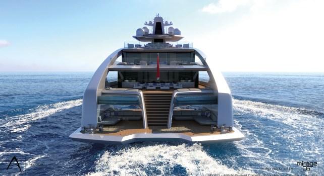 Project Comet : Un yacht de 272 pieds équipé d'une piscine avec fond en verre