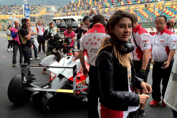 Daughter Pamela Ho, 21, helps with the Starship Yachts-Theodore Racing co-promotion at the Macau Grand Prix
