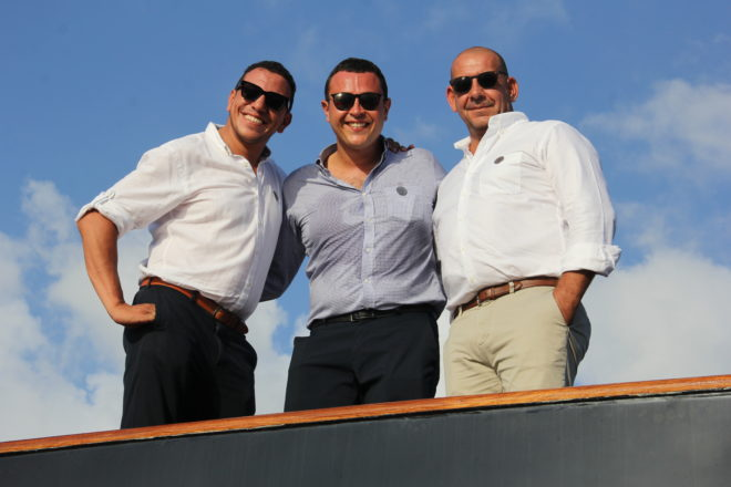 Nicolas Monges (middle) came on board as General Manager of Yacht Sourcing's new Thailand operation last year
