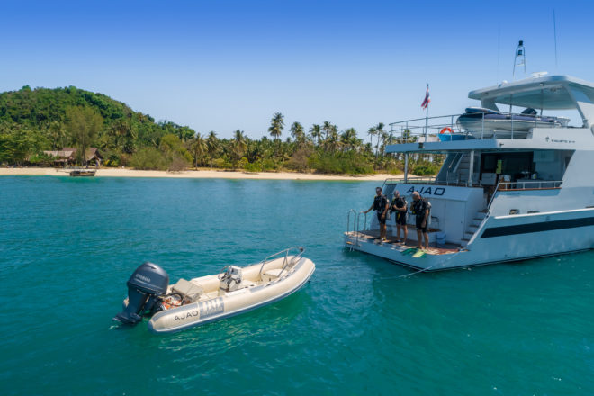 Formerly in Miami, the 89ft, three-cabin Ajao has been chartering from Phuket, Thailand, since 2018