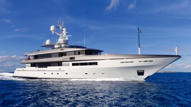 The 51m Codecasa Atlas (above) and 55m Amels Papa (below) were among 12 superyacht deals secured by Burgess' Asia team