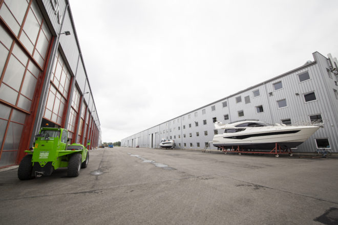 Galeon will develop a winter storage facility and showroom at its larger riverside facility