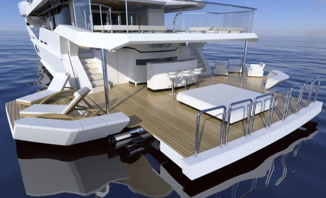 Sunseeker has introduced a double-deck 'ocean club on its Ocean Club 42