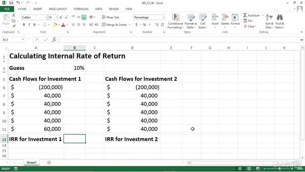 Calculating Internal Rate Of Return (IRR