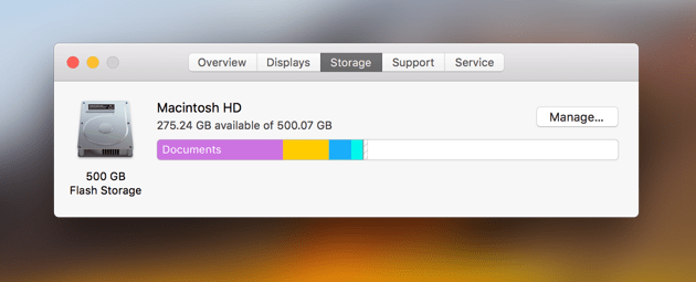Startup Disk Full | Checking your disk storage