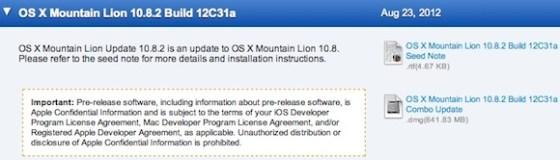 OS X 10.8.2 bêta
