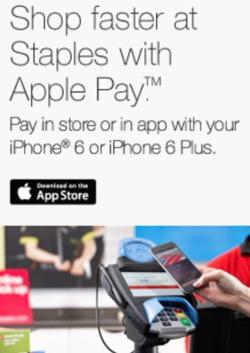 Staples comincia ad accettare Apple paga in vendite al dettaglio