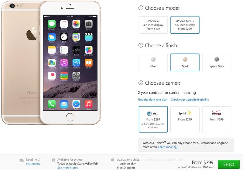 le stime più di trasporto di iPhone 6 e 6 migliorano a 1 business day per 16 ed i modelli 64GB