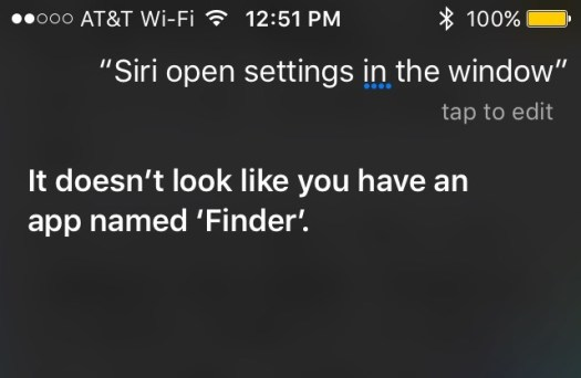 Siri Finder reference