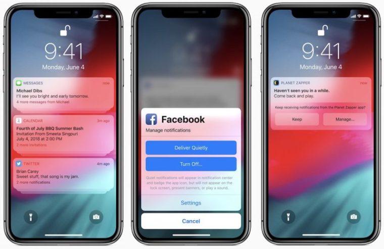 iOS 12 notifications  800x519 - تعرف على الميزات الجديدة والتحسينات التي ستطرحها آبل في نظام IOS 12