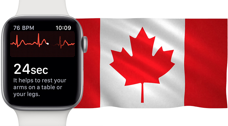 Apple Working With Health Canada to Bring Apple Watch Series 4 s ECG     Apple says it is working with Health Canada to bring the Apple Watch Series  4 s all new ECG functionality to the Canadian market  according to  MobileSyrup s