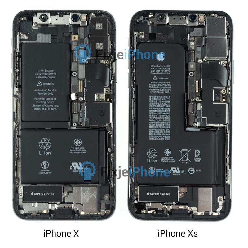 iphone x vs iphone xs teardown - فيديو يستعرض تفكيك آيفون XS لكشف مكوناته الداخلية مع مقارنته بآيفون X