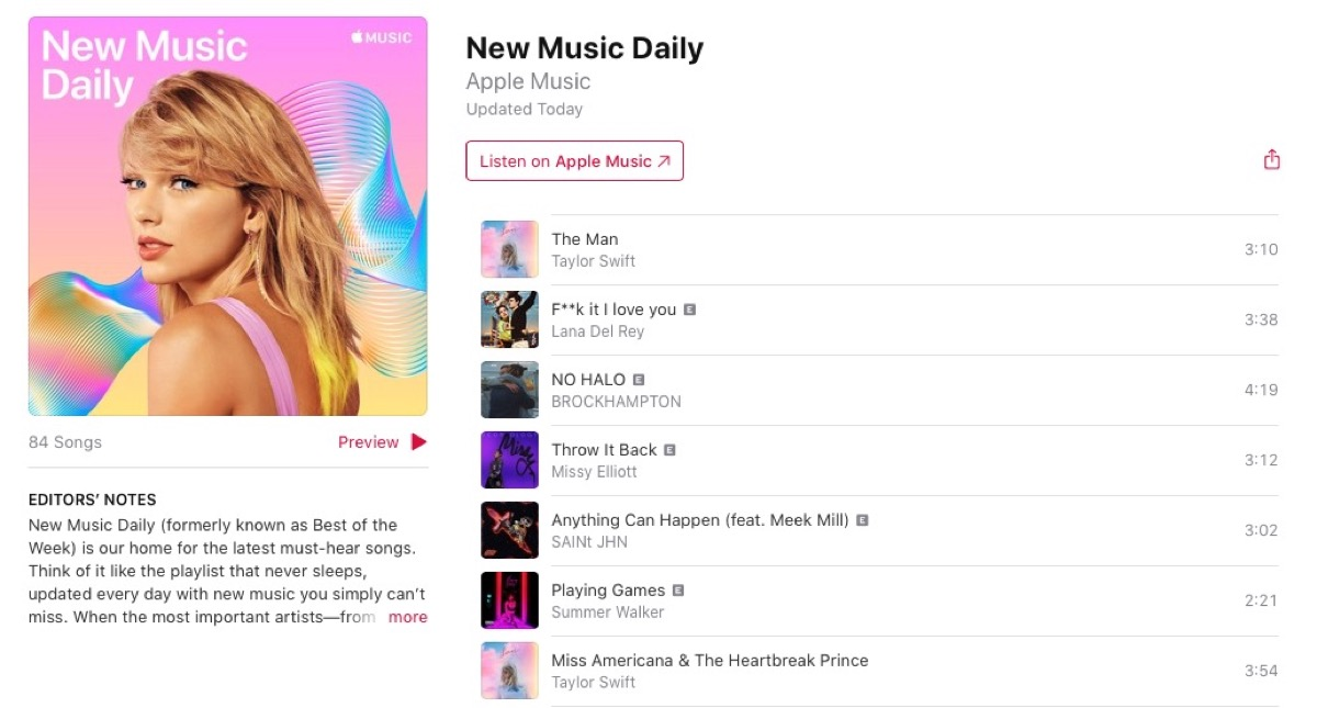Apple Music Replaces