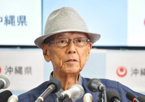 翁長雄志知事=那覇市の県庁で2018年7月27日、佐野格撮影