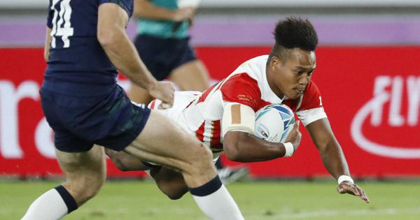 Rugby: Japan lead Scotland 21-7 at halftime of World Cup showdown - The Mainichi