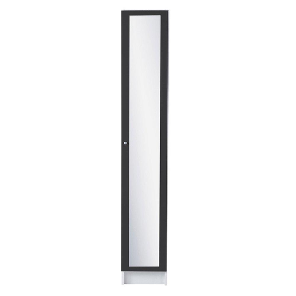 colonne 1 porte miroir 30x31x185cm coloris gris anthracite