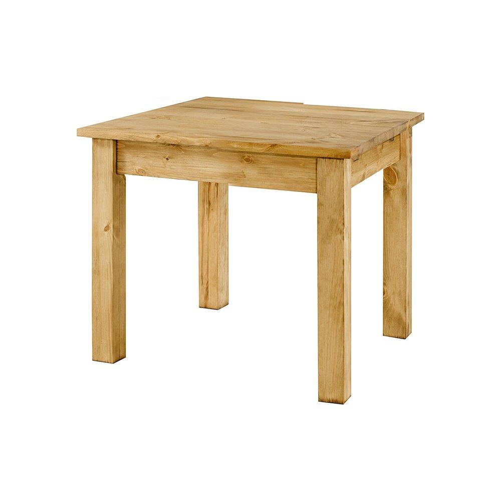 table repas carree 90x90 cm en pin terro