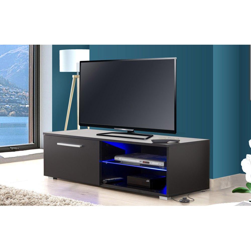 meuble tv led noir tays