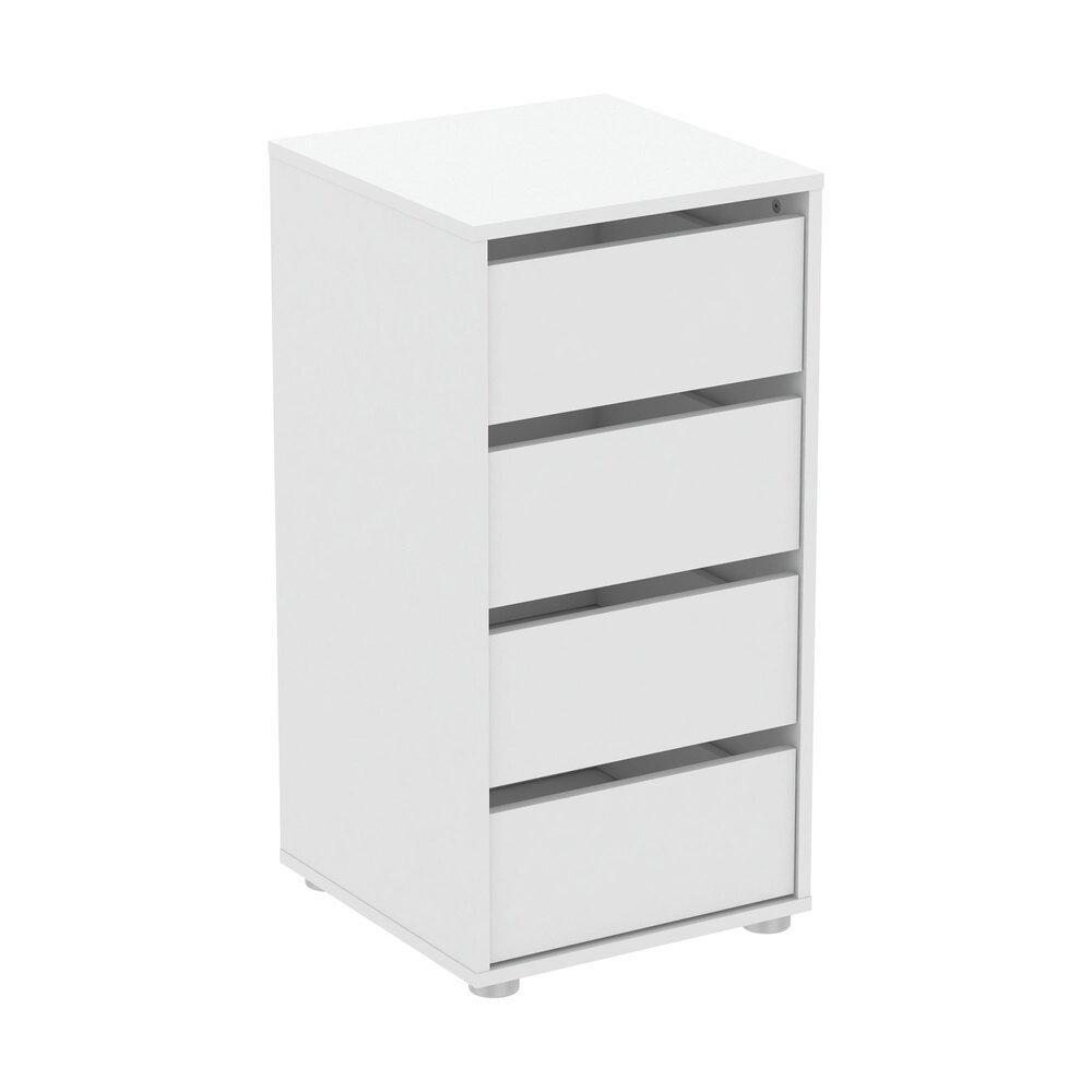 chiffonnier 4 tiroirs 39x40x76 cm blanc luis