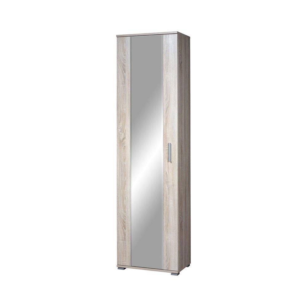 armoire penderie 1 porte 54x34x197 cm decor chene maxou