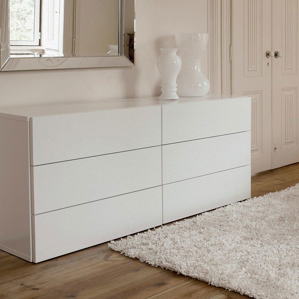 commode 6 tiroirs decor blanc mat preston