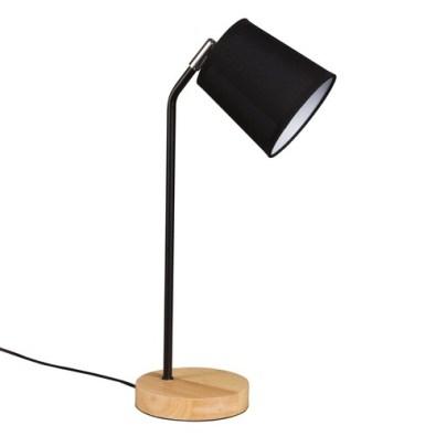 Lampe de bureau en métal noir