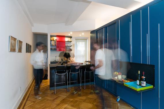 Mkca The Home Bar Inside Of Blue Mini Storage Unit Locker From Unfolding Apartment