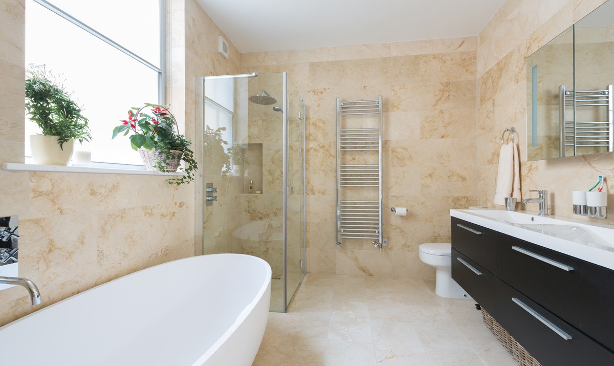 various bathroom storage hacks and solutions make this room look clean organized decluttered