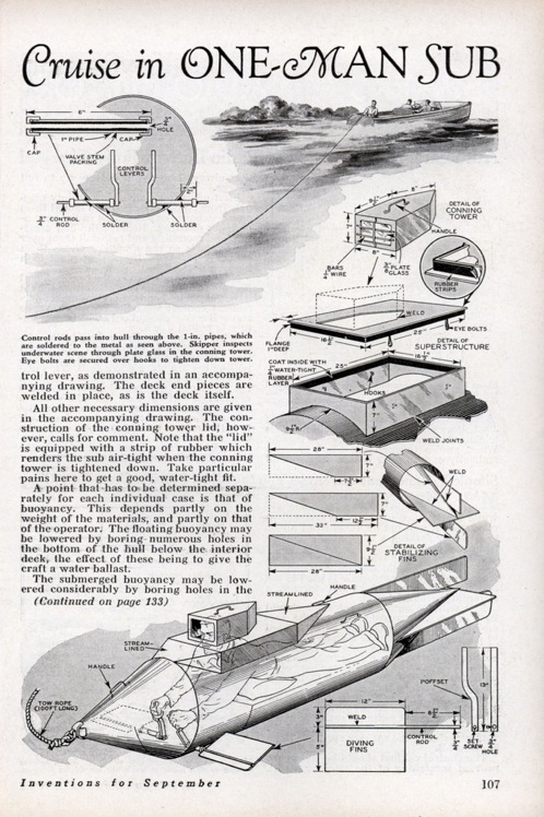 Build your own one-person submarine | Make: on 2 seater submarine plans, wood submarine plans, experimental submarine plans, i 400 submarine plans, diy submarine plans, personal submarine plans, s-class submarine plans, one man submarine plans, two-man submarine plans, small submarine plans, submarine construction plans, submarine design plans,