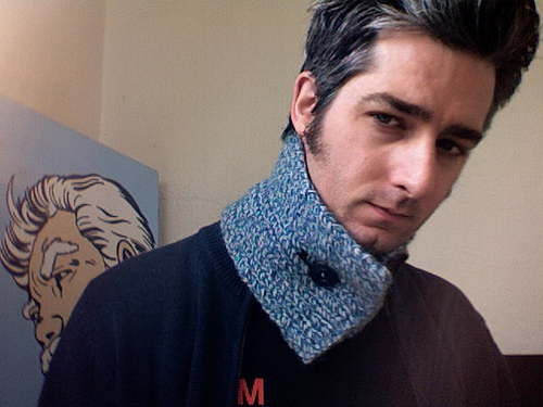 Homemade Scarf - Daily Self Portrait - December 4, 2006