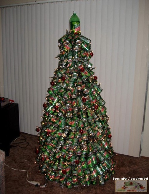 dew - Mountain Dew Soda Can Christmas Tree Make: