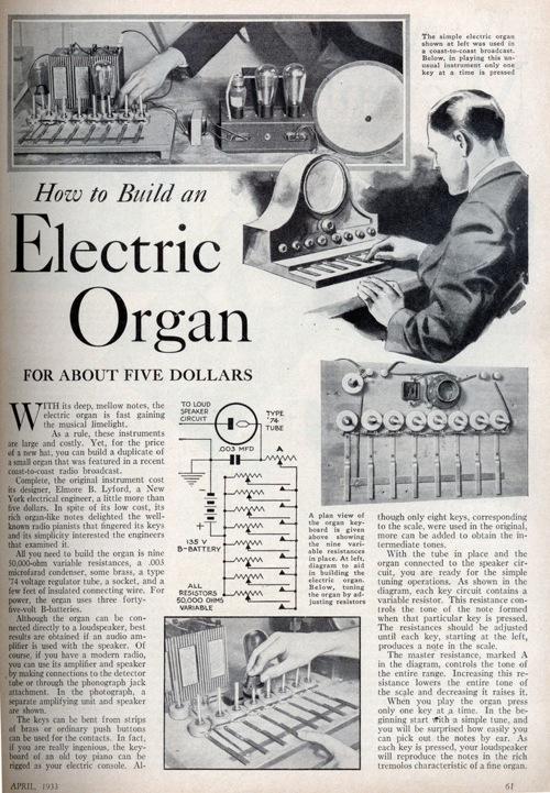 Xlg Electric Organ