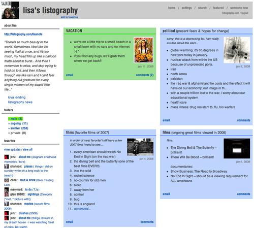 Lisalistography