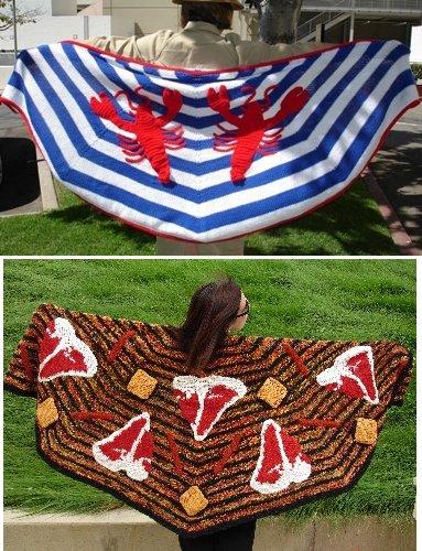 Monster Crochet shawls