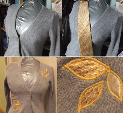 plain cardigan refashioned