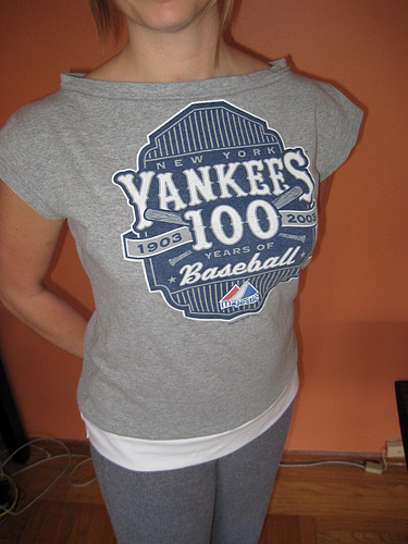 refasioned yankees t