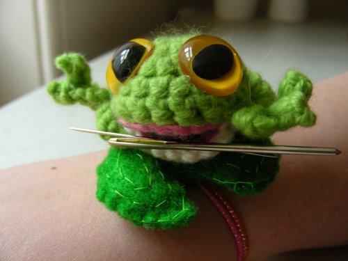 frog pincushion