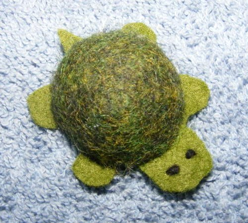 little felt turtle