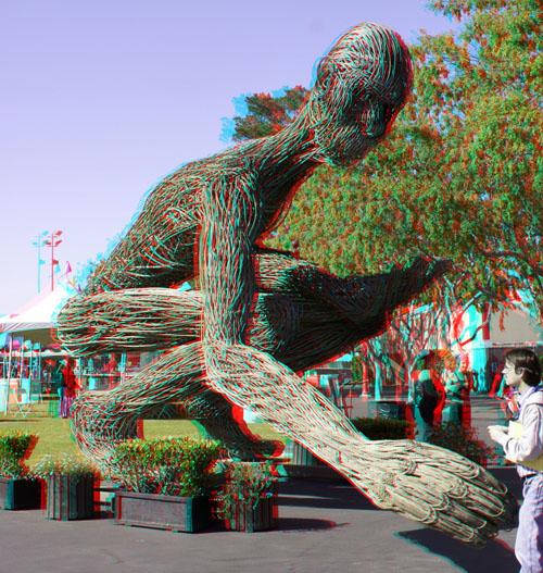 3D Reachingman Statue