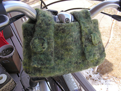 felted bike bag