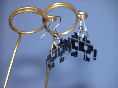 microfiche earrings