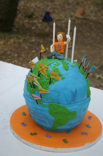 evas globe cake