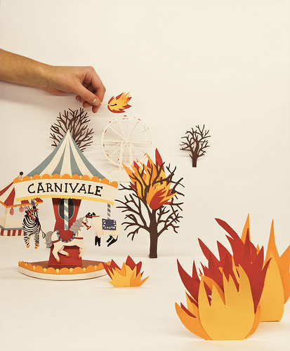fire diorama